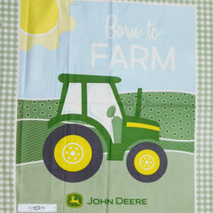 Patchwork Quilting Sewing Fabric JOHN DEERE TRACTOR FARM Panel 90x110cm New