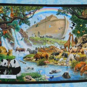 Patchwork Quilting Sewing Fabric NOAHS ARK Panel 90x110cm New Material