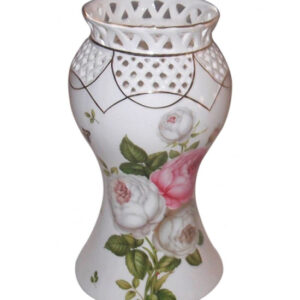 French Country Inspired China Elegant Vase BUTTERFLY ROSE Floral Flowers New