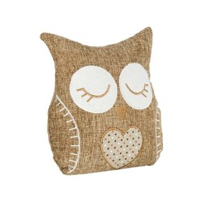 French Country Doorstopper Sitting NATURAL OWL Door Stop Weighted New
