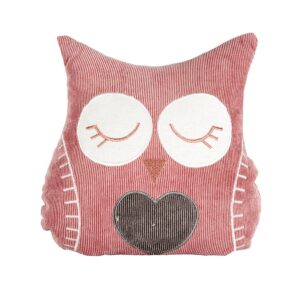 French Country Doorstopper Sitting PINK OWL Door Stop Weighted New