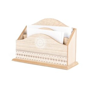 French Country Vintage Inspired Wooden Envelope Letter Holder Stationery New
