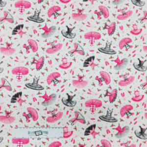 Patchwork Quilting Sewing Fabric BALLERINAS and TUTUS 50x55cm FQ New
