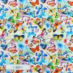 Patchwork Quilting Sewing Fabric MIXED BUTTERFLIES 50x55cm FQ New