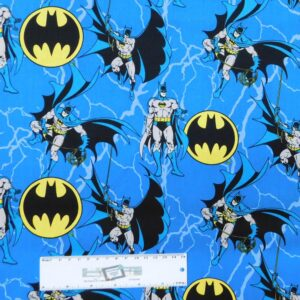 Patchwork Quilting Sewing Fabric DC BATMAN 50x55cm FQ New Material