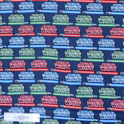 Patchwork Quilting Sewing Fabric STAR WARS LIGHT SABERS 50x55cm FQ New