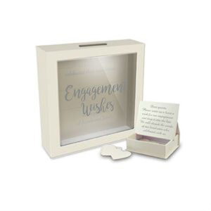 Decorative Card Wishing Well ENGAGEMENT WISHES Box with Heart Messages New