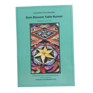 Quilting Sewing Australian Flora Mandala Pattern GUM BLOSSOM Table Runner New