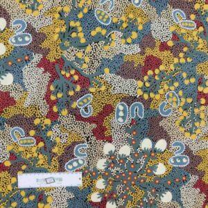 Patchwork Quilting Sewing Fabric ABORIGINAL BUSH SULTANA 50x55cm FQ New