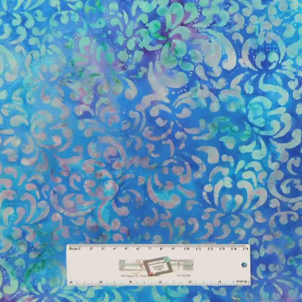 Quilting Patchwork Batik Fabric BROWNS BLUES SPLASH Wide Backing 270x50cm New...