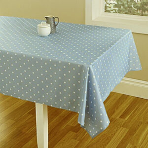 Country Style New Table Cloth GREY SPOTS Tablecloth RECTANGLE 150 x 220cm New