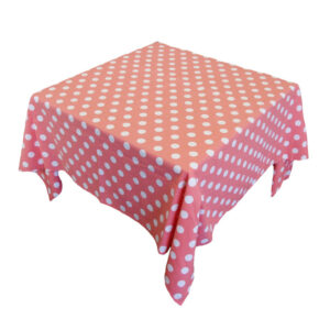 Country Style New Table Cloth CORAL SPOTS Tablecloth SQUARE 130 x 130cm New