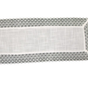 French Country Doiley HANNAH White Lace Doily Duchess Table Runner 35x112cm New