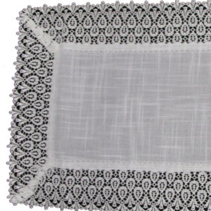 French Country Doiley HANNAH White Lace Doily Duchess Table Topper 85x85cm New
