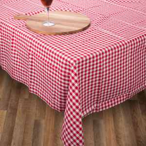 Country Style Kitchen Table Cloth RED GINGHAM Tablecloth 150 x 300cm New