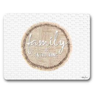 Kitchen Cork Backed Placemats AND Coasters FAMILY IS EVERYTHING Set 6 New