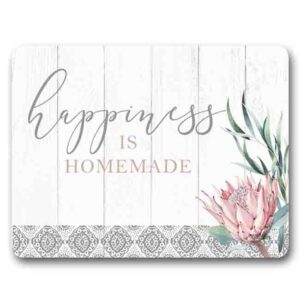 Kitchen Cork Backed Placemats AND Coasters PROTEA HAPPINESS Set 6 New