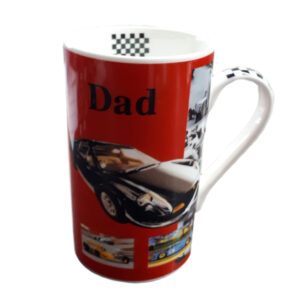French Country Chic Kitchen Coffee Mug Cup Dad RED Racing Car China New