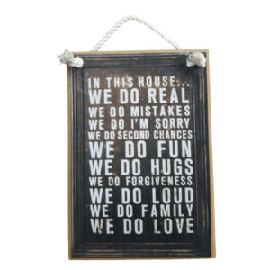 Country Printed Quality Wooden Sign This House We Do Real Funny Inspiring Plaque