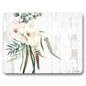 Kitchen Cork Backed Placemats AND Coasters BOHO LUXE MAGNOLIA Set 6 New
