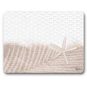 Kitchen Cork Backed Placemats AND Coasters STARFISH BEACH Set 6 New