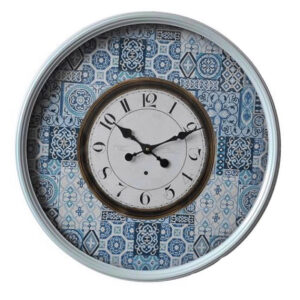 Clocks Country Vintage Inspired Wall Large Blue Clock with Glass 60cm New