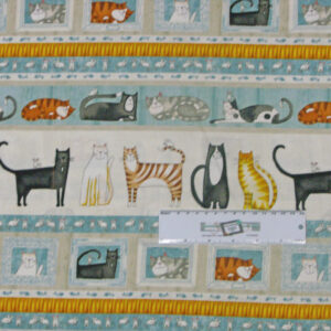 Patchwork Quilting Sewing Fabric MEOW CATS Border Material 50x55cm FQ New