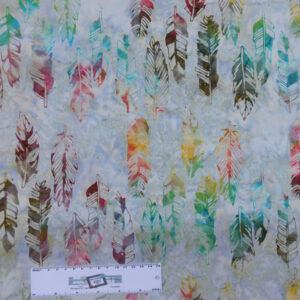 Patchwork Quilting Sewing Fabric BATIK FEATHERS Allover 50x55cm FQ New