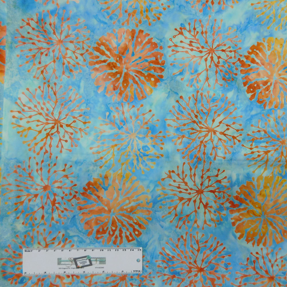 Patchwork Quilting Sewing Fabric Teal Wash Batik 50x55cm FQ New Material
