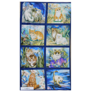Patchwork Quilting Sewing Fabric PAWSITIVE CATS Panel 60x110cm Material New