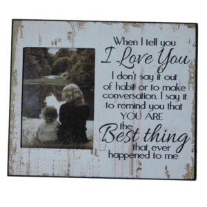 French Country Photo Frame Wooden MUM BEING AWESOME 28x33cm New