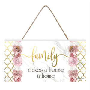 French Country Inspired Wall Art BLUSH CRUSH FAMILY HOUSE HOME 15x30cm Sign New