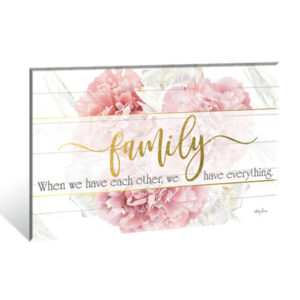 French Country Wooden Print BLUSH CRUSH FAMILY HAVE EACH OTHER Sign 40x60cm New