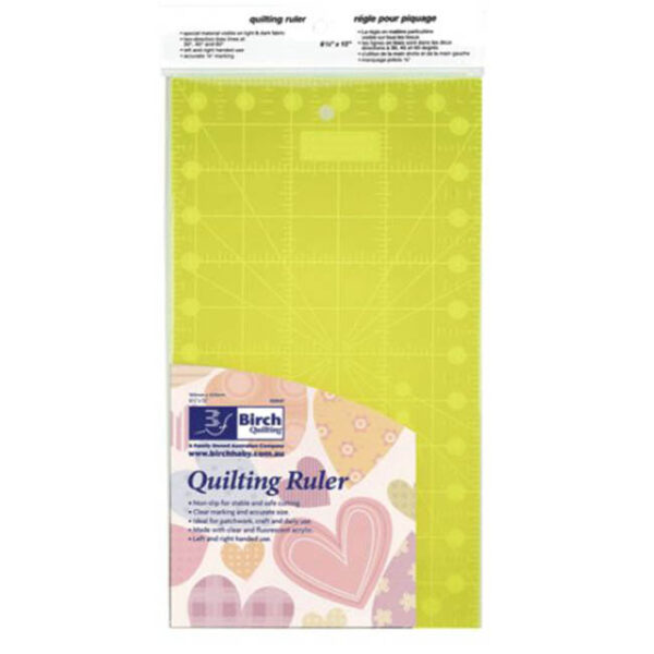 """Quilting Patchwork Sewing Template Rectangle 12"""" x 6.5"""" Birch New"""
