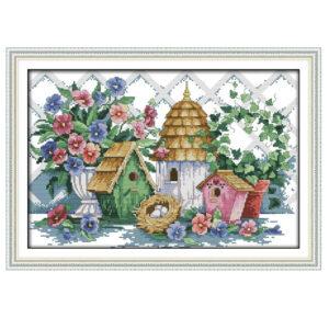 Cross Stitch Kit SUMMER HOME X Stitch Joy Sunday Designs Incl Threads New