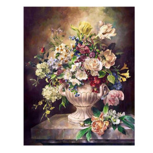 5D Diamond Painting Full Image Square Drills FLORAL VASE FLOWERS 40x50cm New