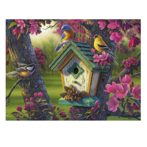 5D Diamond Painting Full Image Square Drills BIRD and BIRDHOUSE 40 x 30cm New