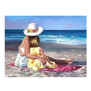 5D Diamond Painting Full Image Square Drills BEACH GIRLS 30x40cm New