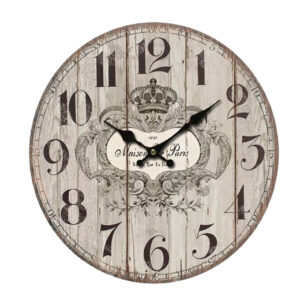 Clock French Country Vintage Wall Hanging MAISON DE PARIS Clocks Time 34cm New