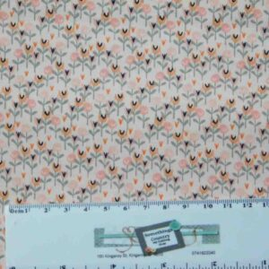 Patchwork Quilting Sewing Fabric LITTLE DEER PINK FLORALS 50x55cm FQ New