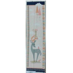 Patchwork Quilting Sewing Fabric WOODLANDS HEIGHT CHART Panel 30x110cm New