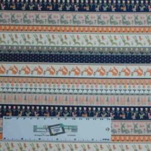 Patchwork Quilting Sewing Fabric LITTLE DEERS BORDERS MULTI 50x55cm FQ New