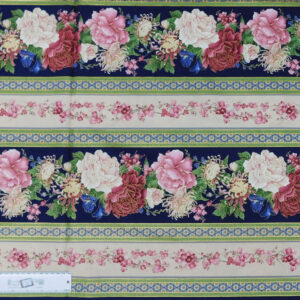 Patchwork Quilting Sewing Fabric SAKURA FLORAL BORDER 50x55cm FQ New