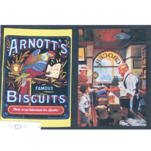 Patchwork Quilting Sewing Fabric ARNOTTS BISCUITS Panel 39x110cm New
