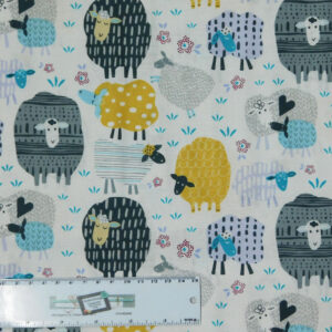 Patchwork Quilting Sewing Fabric BABY SHEEP 50x55cm FQ New Material