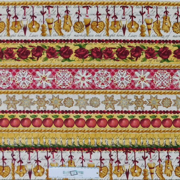 Patchwork Quilting Sewing Fabric CHRISTMAS TIDINGS 50x110cm New