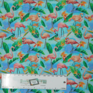 Patchwork Quilting Sewing Fabric FABULOUS FLAMINGOES 50x55cm FQ New