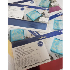 Brother Foil Transfer Sheets 4 Pack 20x10cm Assorted Colours for Scan N Cut New