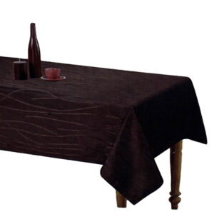 Country Style New Table Cloth SONATA BLACK Tablecloth RECTANGLE 140x185cm New