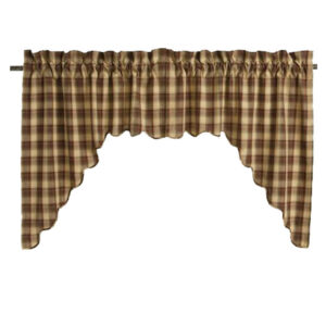 French Country Curtain Ruffled RIVERTON Kitchen Window Swag 90x180cm New